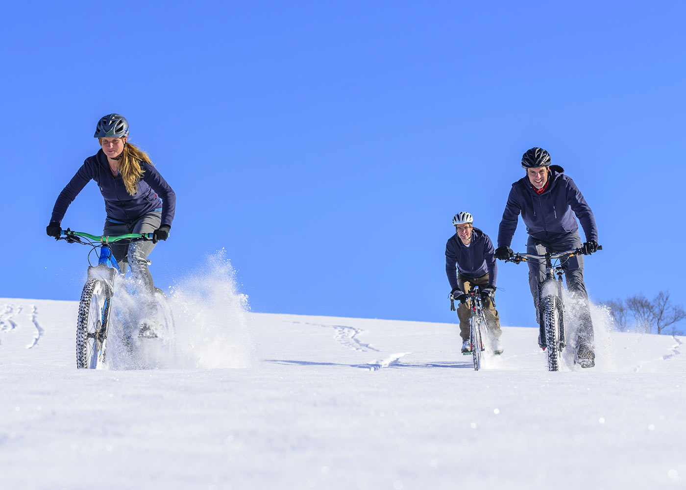 IOur tips for riding in snow on mountain bikes and fat bikes