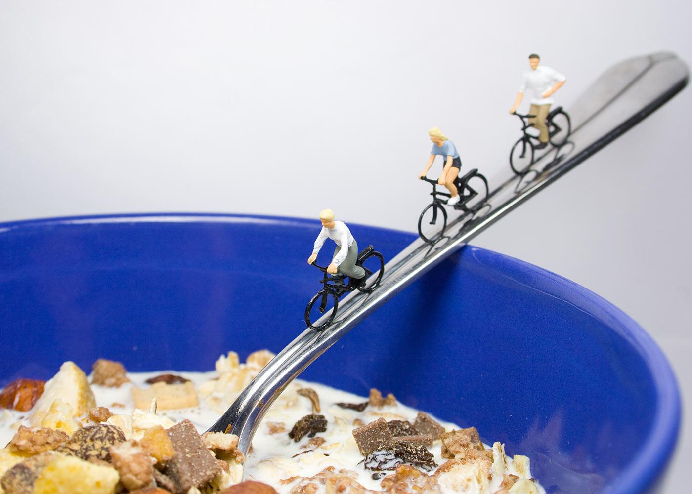Breakfast of cyclist