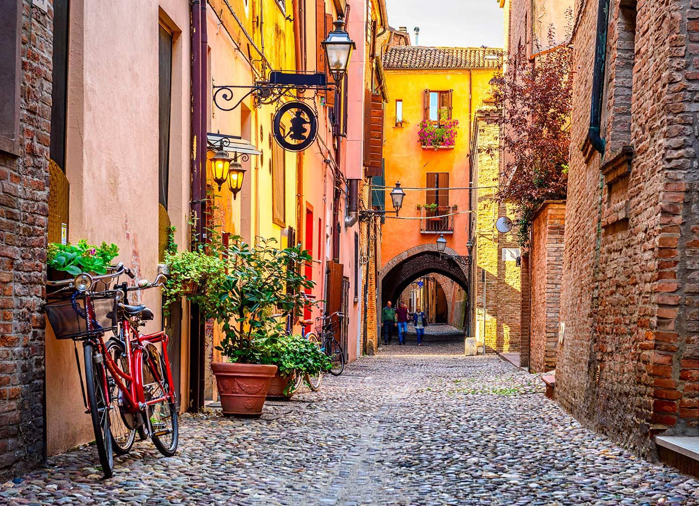 Bike paths in Ferrara