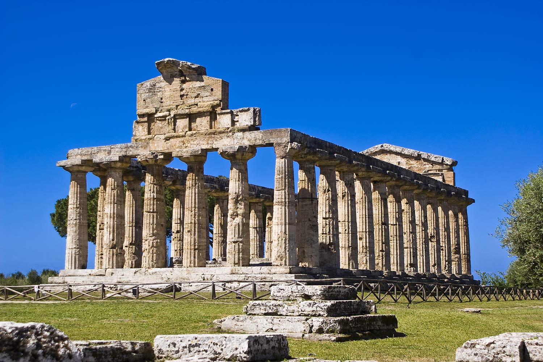 Temple of Paestum in Campania